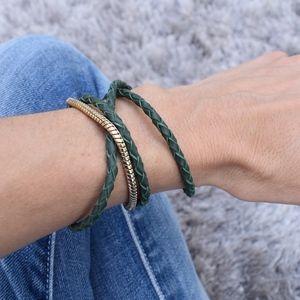 (Banana Republic) Leather Braid Bracelet